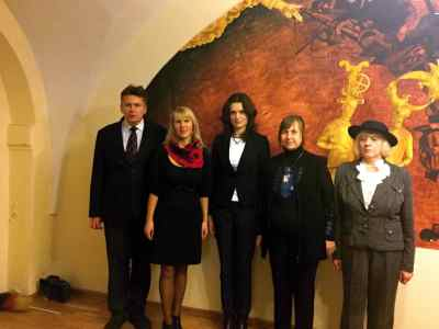 Pictured from left to right are: historian Zilvinas Radavicius, initiator of a recent multi-cultural event in Vilnius, In cooperation with the United Nations Association of Lithuania (UNA-Lithuania), independent Lithuanian journalist Gitana Merkeliene, Irmina Szmalec, a Consul at the Polish Embassy in Vilnius, Jurate Landsbergyte, Executive Director of the United Nations Association of Lithuania (UNA-Lithuania), a member of the World Federation of United Nations Associations (WFUNA) and Polish lady Anna Kowzan, who lives in Vilnius, Lithuania. ALL PHOTOS COURTESY OF GITANA MERKELIENE.