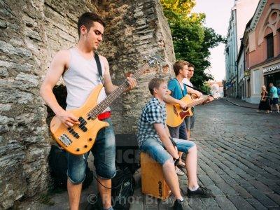 Street musicians from Tallinn