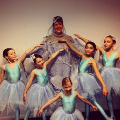 Teaching little girls to dance (Of course I didn't take this one - photo credit to an enthusiastic backstage Mum!)