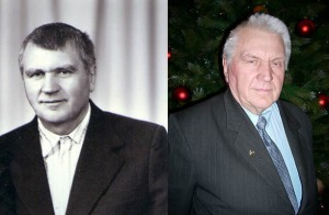 Antanas Terleckas in the 80s (left) and now.