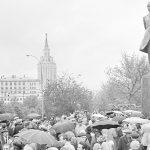 Памятник Михаилу Лермонтову у Красных Ворот отмечает 55-летие