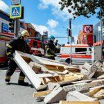 В Пярну обрушилась часть офисного здания