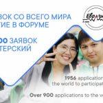 Стать участниками форума «Евразия Global» пожелали молодые соотечественники из более чем 100 стран