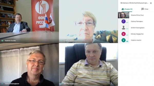 Состоялась онлайн-встреча руководства фонда «Русский мир» с представителями прибалтийских Русских центров