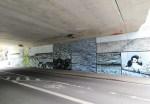 Подземный переход в Германии украсили рисунками к басне Крылова
