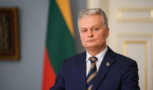 Пресс-конференция президента Литвы Гитанаса Науседы