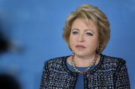 Матвиенко: Россия не собирается вводить надуманные ограничения и закрывать границы