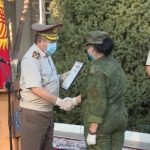 На авиабазе в Киргизии проводили российских военных медиков