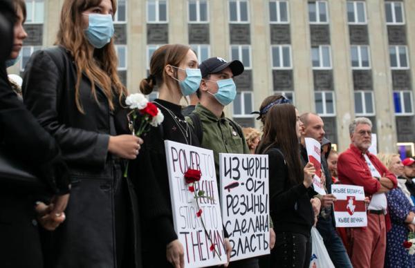К цепи солидарности с Беларусью присоединились 32 государства