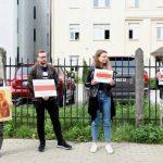 Латвийцы вновь протестуют против режима Лукашенко у посольства Белоруссии