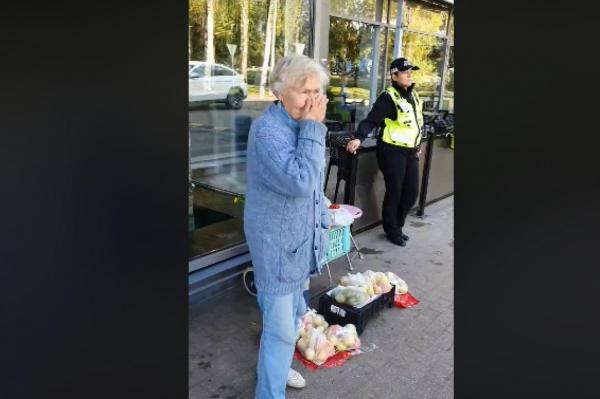 Попытка продать яблоки в Иманте закончилась для пенсионерки слезами и полицией
