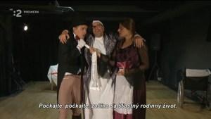 Словацкие телезрители увидели репортаж о спектакле по чеховской пьесе «Предложение»