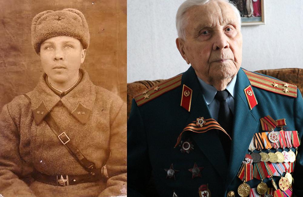 В строй «Бессмертного Полка» встал участник Сталинградской битвы и сражения на Курской дуге Григорий Прокопьевич Белозёров
