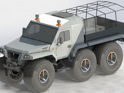«Хаски пикап»: в России создали лютый внедорожник-амфибию с грузовой платформой