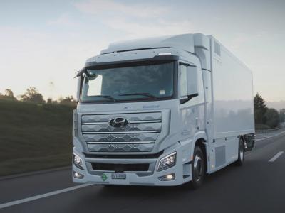 Hyundai представила первый серийный грузовик на водороде