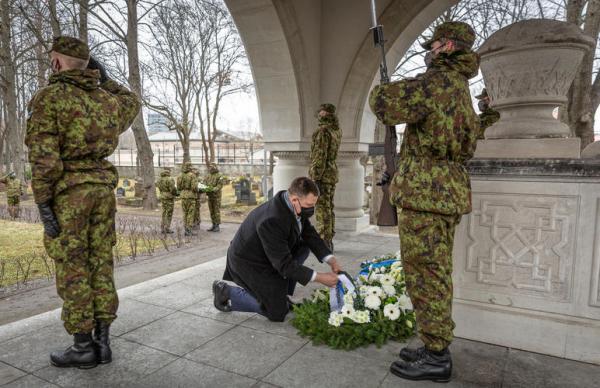 Юри Ратас почтил память погибших эстонских солдат