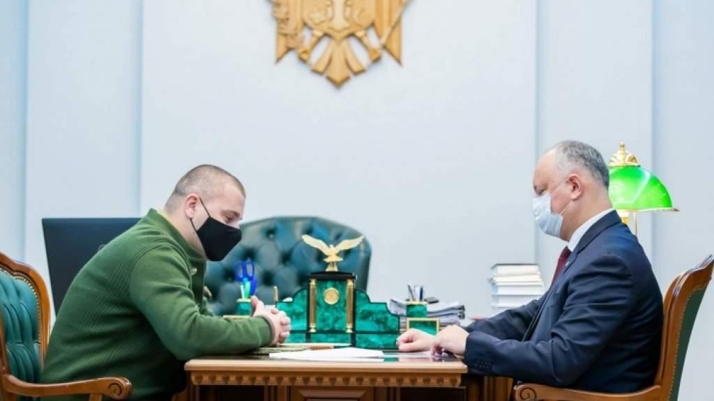 Игорь Додон поблагодарил главу комитета «Победа» за работу по сохранению исторической памяти