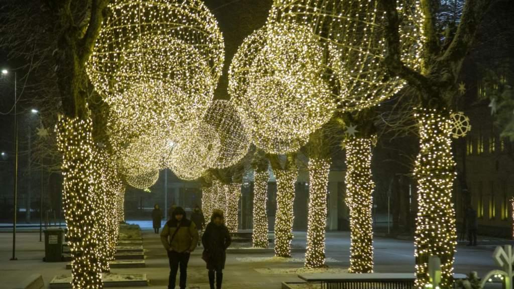 Сказочный Огре в рождественских огнях (фотогалерея)