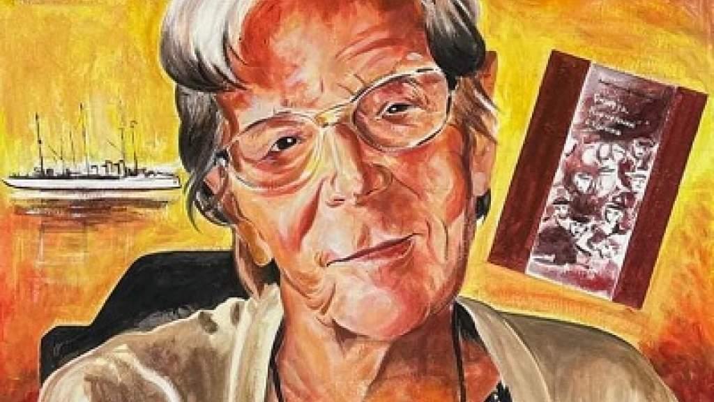В тунисской Бизерте появился граффити-портрет А.А.Манштейн-Ширинской