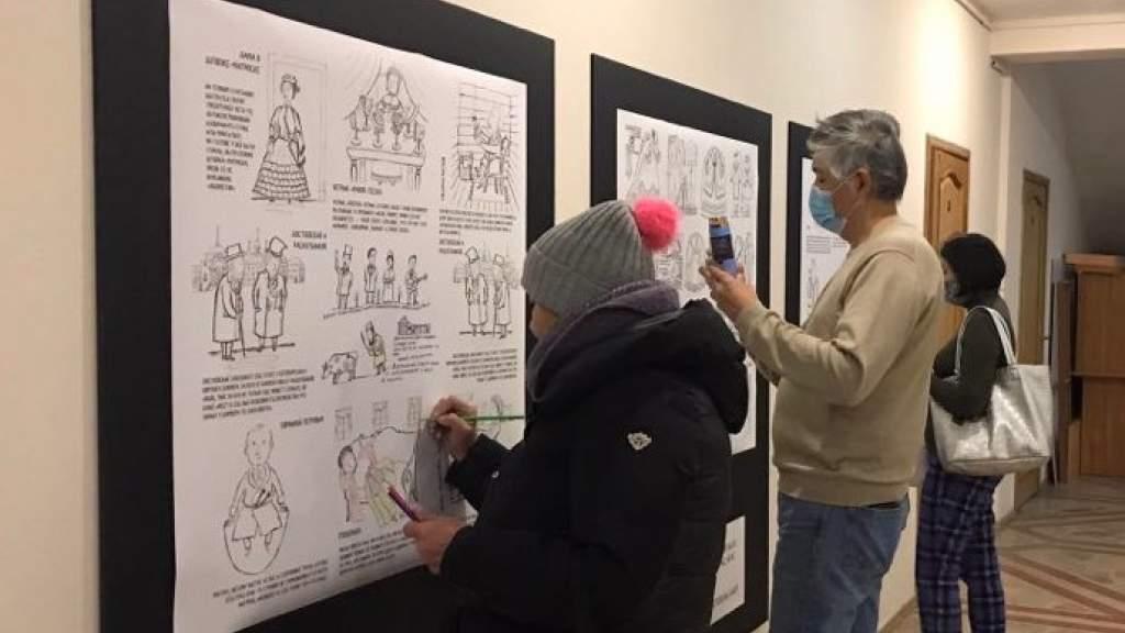 Выставка о творчестве Достоевского открылась в Нур-Султане