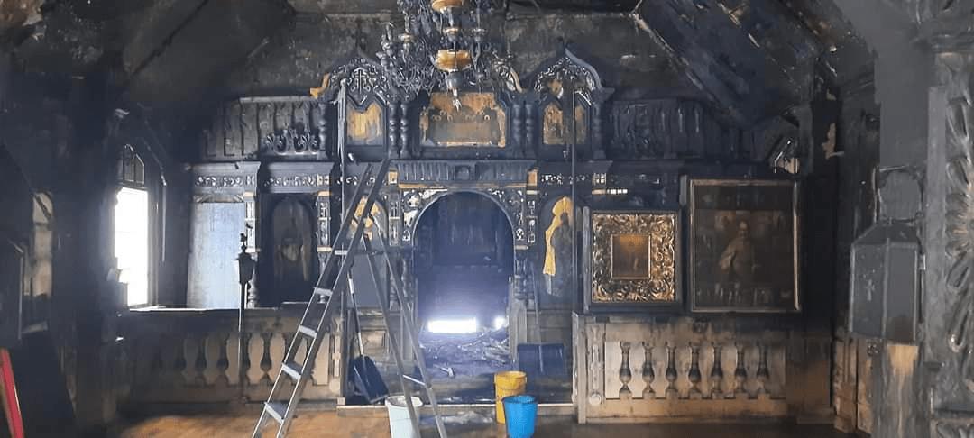 В эстонском местечке Нарва-Йыэсуу подожгли православную церковь