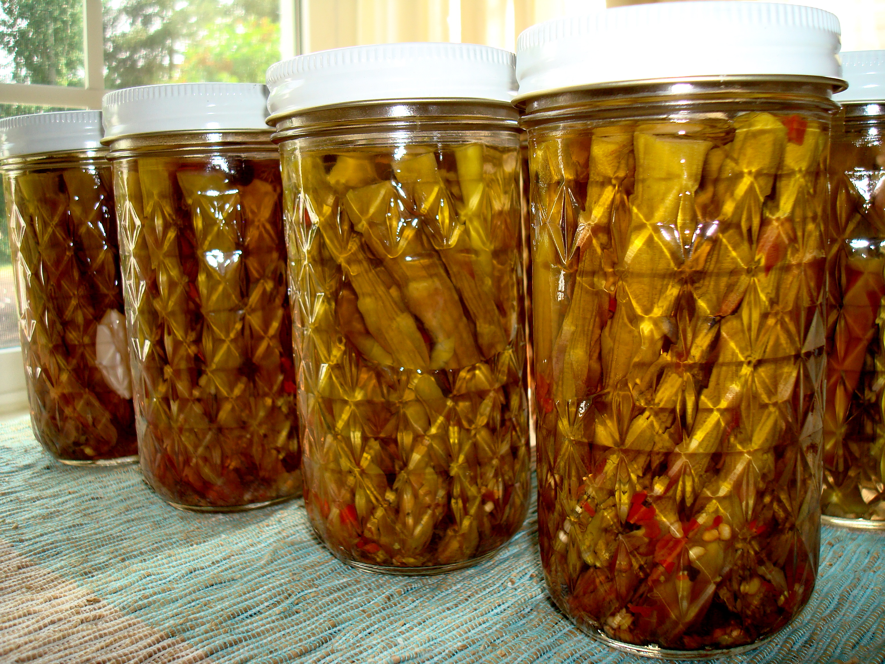 Dilly pickles I boiling-water canned at home
