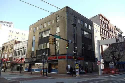 Former Read's Drug Store, Southwest corner of North Howard Street & West Lexington Street, Superblock