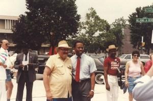 Mayor Kurt Schmoke at Gay Pride after Gay Rights Bill passed, 1988