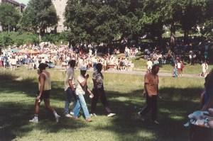 Gay Pride in Wyman Park, June 1988
