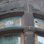 Stained glass transom, Bolton Hill Rowhouse