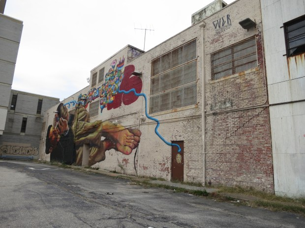 Mural at the rear, WFBR/Centre Theatre