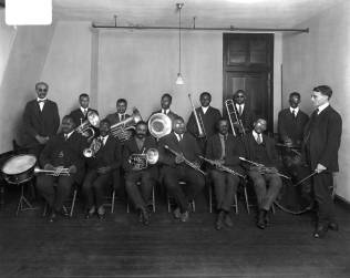 Colored Band, Maryland Workshop for the Blind. Courtesy UMBC Special Collections, Hughes Company Glass Negatives.
