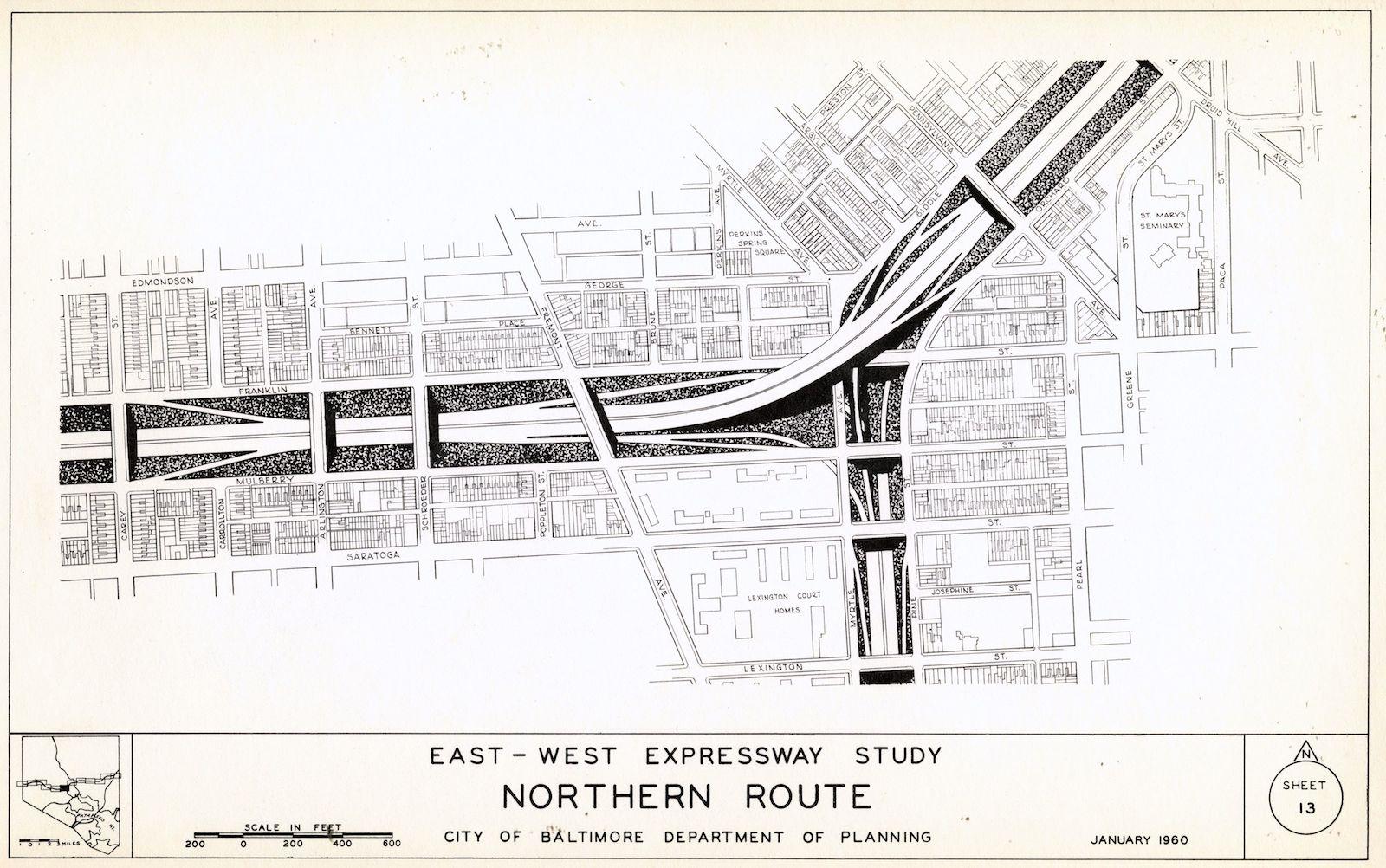 Round Table Capitol Expressway Harlem Park Baltimore Heritage