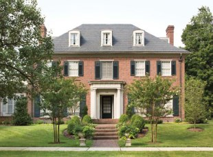 Photograph of the Sherwood Mansion at 204 E. Highfield Road designed by Howard Sill. Courtesy the Guilford Association.