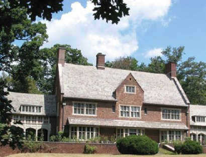 Photograph of 33 Warrenton Road designed by Laurence Hall Fowler in the Tudor Revival style. Courtesy the Guilford Association.
