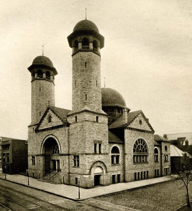 Baltimore Hebrew Congregation Synagogue built at 1901 Madison Avenue in 1890. Courtesy Jewish Museum of Maryland.