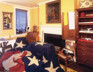 The living room at the Flag House, courtesy of the museum.