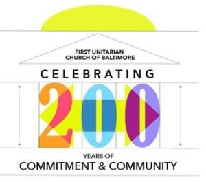 logo for first Unitarian Church's 200th Anniversary