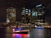 Lighted Boat Parade at Baltimore Inner Harbor