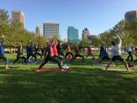 Free fitness classes at the Inner Harbor