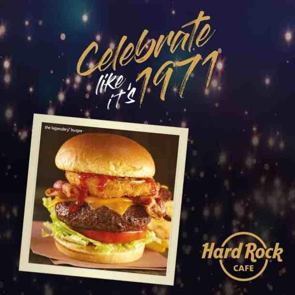 Hard Rock Cafe free burger