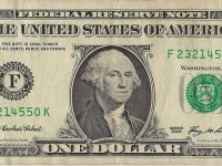 Dollar bill for Dollar or Less Days