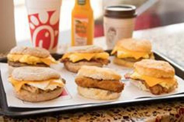 Chick-fil-A breakfast entrees