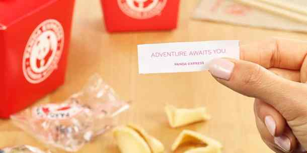 Panda Express fortune cookie