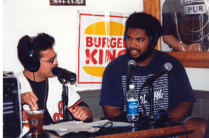 The time that Jon Ogden co-hosted Orioles Opening Day from Camden Pub