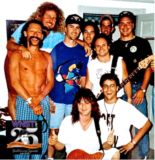 The story behind the Eddie Van Halen picture with Mike Mussina at Merriweather Post Pavilion