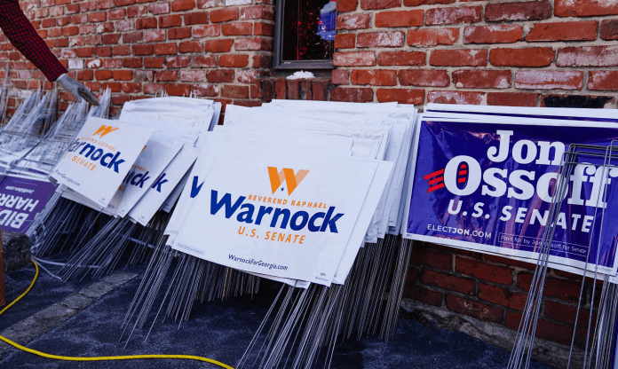Larry Gibson plants political signs from Pennsylvania to Georgia