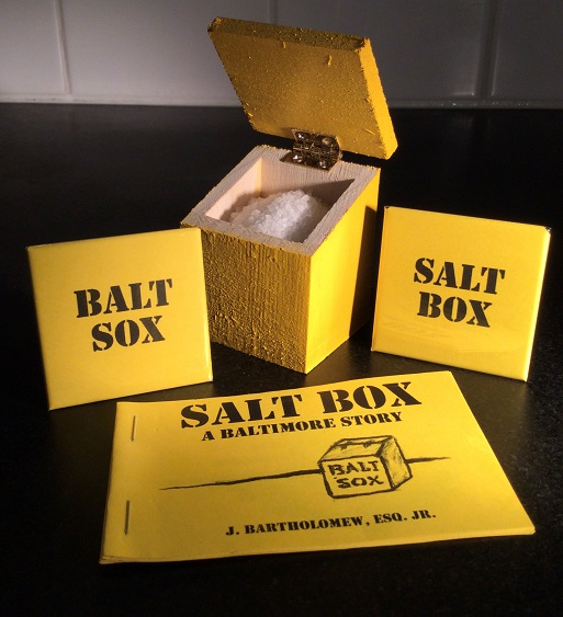Saltbox set with book and pins