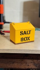 Small Saltbox on table-closed lid
