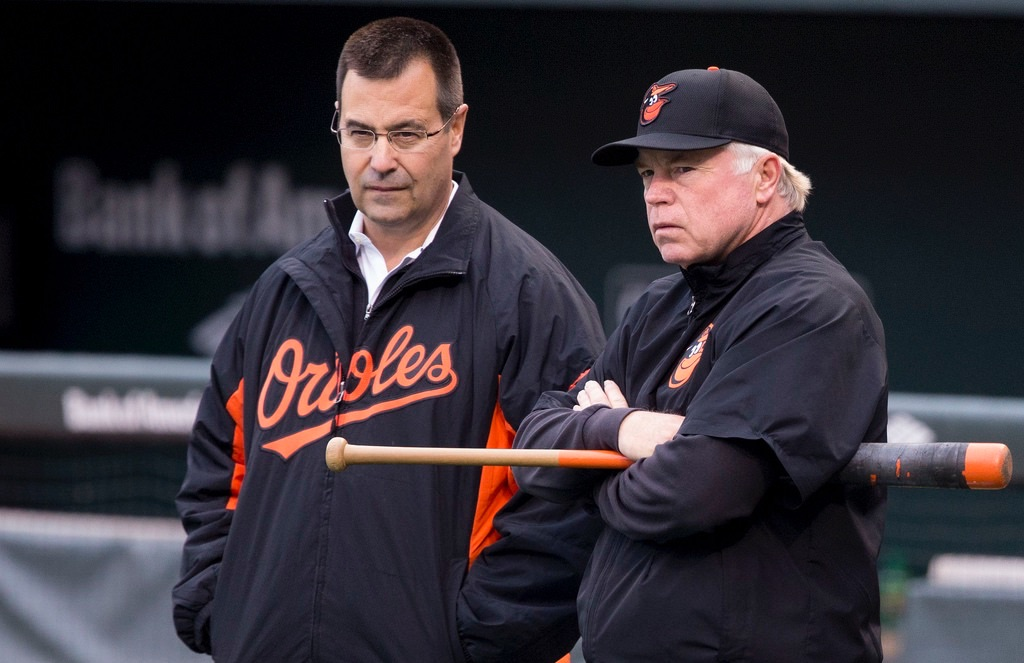 Dan Duquette and Buck Showalter